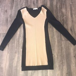 Michael Kors- Black & Camel Colorblock dress